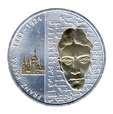 DEUTSCHLAND 10 Euro SILBER 2008 - FRANZ KAFKA - GOLDAPPLIKATION (10539/388N)