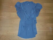 rue 21 sexy gray short sleeve open front cardigan shirt size M