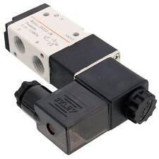 DC 12V 1/4'' 3 way 2 position Pneumatic Electric Solenoid Valve NPT Air Aluminum