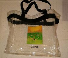 geha clear tote bag purse stadium
