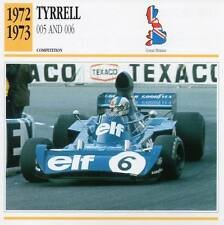 1972-1973 TYRRELL 005 / 006 Racing Classic Car Photo/Info Maxi Card