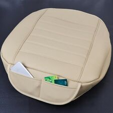 NEW BEST Universal Beige Car Front Breathable PU leather Seat Cover pad Cushion