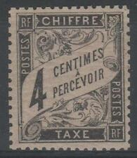 """FRANCE STAMP TIMBRE TAXE N° 13 """" TYPE DUVAL 4c NOIR """" NEUF x TB  N376"""