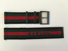 NEW AUTHENTIC GUCCI BLACK,GREEN & RED GUCCI FLAG 23mm NYLON STRAP FOR YA126229
