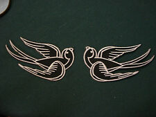 Iron On Patch - Swallows Black/White Large Pair