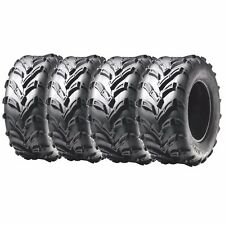 Front &Rear ATV Tires 6 ply 25x8-12 & 25x10-12 For Polaris Ranger Crew Sportsman