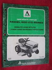 1980 ALLIS CHALMERS 608LTD & 611LTD LAWN & GARDEN TRACTOR OPERATORS MANUAL