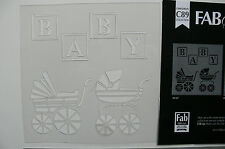 Stencil BABY Blocks & Prams - 180 x 180mm Total - C89 Sweet Baby Collection