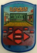 Vtg. 1995 Milton Bradley HANGMAN electronic hand-held word game -PLAY TESTED!