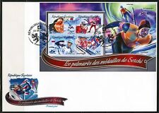 TOGO 2016 GOLD MEDAL WINNERS OF THE SOCHI OLYMPIC GAMES  SHEET FDC
