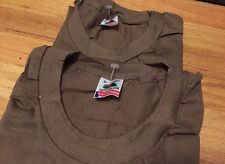 Lot 2 Vintage US Army Military Undershirt Sleeve Crew Neck Thin T Shirt. Size M