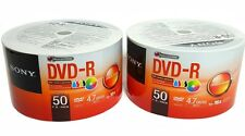 SONY Blank DVD-R DVDR 100 White Ink Printable 16X 4.7GB Disc EXPEDITED SHIPPING