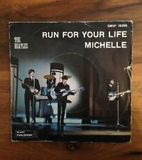 The Beatles - Run for your life / Michelle - Original Parlophon RETRO GIALLO!