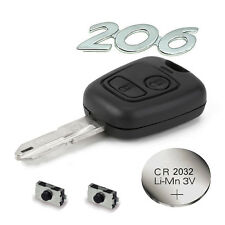 PEUGEOT 206 2 BUTTON Full Refurbish kit  Incl. Battery, blade and micro switches