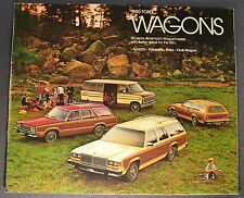 1980 Ford Station Wagon Brochure LTD Country Squire Fairmont Pinto Club Original