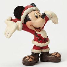 Jim Shore Disney Traditions Chirstmas Mickey Mouse Santa Christmas Cheer 4046016
