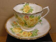 Royal Albert Yellow Tea Rose Teacups and Saucers Made in England