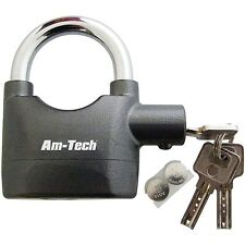 Original Alarmed Padlock Heavy Duty High Security  With 3 Keys and Batteries