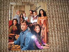 Firefly signed autograph 8x10 photo IP Jewel Staite Morena Baccarin +3