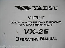 YAESU VX-2E (GENUINE OPERATING MANUAL ONLY).............RADIO_TRADER_IRELAND.