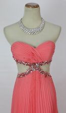 Alex & Sophia $180 Coral Evening Prom Formal Cruise Long Cruise Dress size 5 NWT