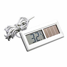 Potable Solar Powered Digital LCD Thermometer -50℃ ~ 150℃ Sensor Cable  New