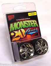 Hoppin Hydros 1/24 1/25 MONSTER 24s Chrome Wheels Rims Tires PRIMOS Model Car