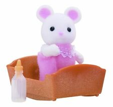 Sylvanian Families - White Mouse Baby - Brand New