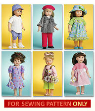SEWING PATTERN! MAKE DOLL CLOTHES! FITS AMERICAN GIRL LANIE! SOFTBALL UNIFORM!