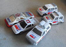 Lot of 5 Golden Wheel Pepsi Diecast Plastic Cars and Trucks