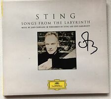 SONGS FROM THE LABYRINTH HAND SIGNED  AUTOGRAPHED BY STING & RUSSELL CROWE