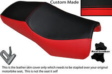 RED & BLACK CUSTOM FITS YAMAHA FZS 600 98-04 DESIGN 2 LEATHER SEAT COVER