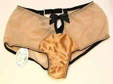 BNWT Bordelle Nouvelle Justine 'O' Brief RRP £95 Handmade luxury Peach Small