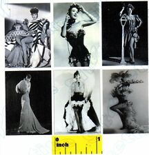 6 Miniature Vintage Burlesque Gypsy Rose Lee  Pin Up Prints - Dollhouse 1:12