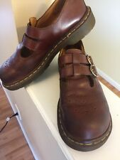 Vtg Dr Martens Double T Strap Mary Jane Buckle Shoes England Sz UK 6/US 8 Womens