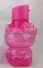 Tupperware Hello Kitty Flip Top Water Bottle 14oz/425ml  Pink