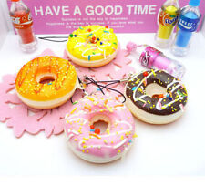 Donuts Soft New Kawaii Squishy Cell phone Straps Chain Colorful Charms