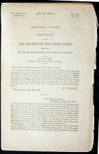 Message from President Taylor: California Customs Collection 1850 pamphlet