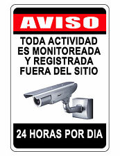 NO TRESPASSING Sign.Keep Criminals Away VIDEO SURVEILANCE SIGN..Aluminum spanish