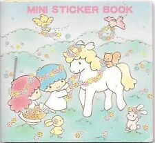 Vintage 1986 Sanrio Little Twin Stars Unicorn Mini Sticker Seal Book New Rare