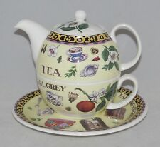 Roy Kirkham Bone China Tea for One Set Stacked Teapot Cup & Saucer TEA