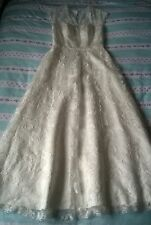 Vintage Style Ivory Lace Wedding Dress Size 18 UK