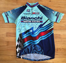 Vintage SMS Santini Bianchi Martini Racing Cycling Bike Jersey Sz XXL