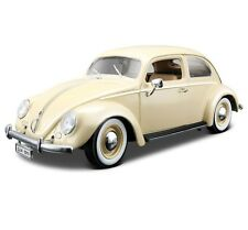 Burago 1955 VOLKSWAGEN KAFER BEETLE 1:18 Scale CREAM Die Cast Metal Car