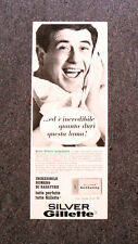 I917- Advertising Pubblicità -1965- LAMA DA BARBA SILVER , GILLETTE