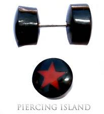 Ohrringe Geschraubt Handarbeit Fake Flesh Piercing Plug Horn F041
