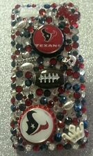 Houston Texans NFL bling case 4 iPhone 4s,5,5s,5c,6,Samsung Galaxy S3,S4&S5