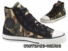 KID Boy Girl CONVERSE All Star BLACK GREEN CAMOUFLAGE HI TOP Trainers UK SIZE 10