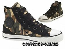 KIDS Boy Girl CONVERSE All Star BLACK GREEN CAMO HI TOP Trainers Boot SIZE UK 10