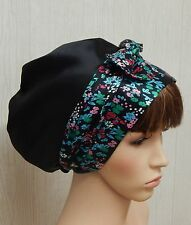 Satin head scarf head wrap bonnet, silky sleeping cap, Jewish tichel head wear